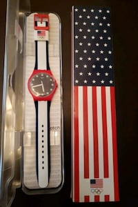 Swatch Red White & Blue, Unisex Watch for Women/Me Baltimore, 21211