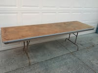 """Folding Banquet table...8 ft. W x 30""""D, 29"""" High. Good condition. Great for extra seating or for garage sale. Indianapolis, 46231"""