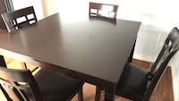 Dining table 4 chair leather seat San Diego, 92126
