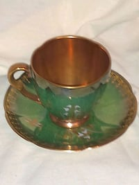 Carlton Ware Green Gold Luster 1930 Burlington, L7R 3P8