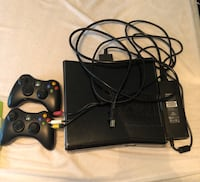 Black xbox 360 console with 2 controllers Mays Landing, 08330