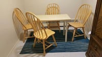 brown wooden table with four chairs Mississauga, L5A 2G2