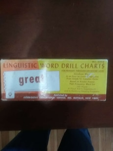 Linguistic word drill charts box
