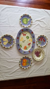 6 pcs. Big Platter and Plates Bowie, 20715