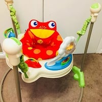 baby's white and red Fisher-Price jumperoo Hyattsville, 20783