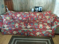 pink and white floral 3-seat sofa Riceboro, 31323