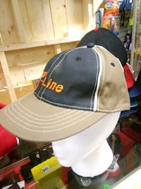 gray and black fitted cap