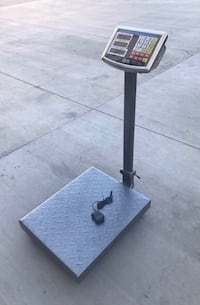 New 660 lbs capacity all metal steel commercial grade platform scale rechargeable weight LB and KG Whittier, 90605