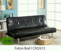 black leather tufted sectional sofa Santa Fe Springs, 90670