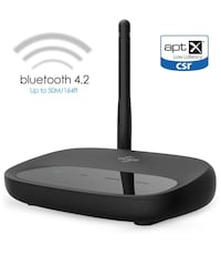 New, Bluetooth 4.2 Transmitter Receiver, Viflykoo 164ft Long Range 3 in 1 Bluetooth Adapter, aptX Low Latency in Dual Link, Pair 2 in TX & RX Mode, 3.5mm AUX RCA Optical TOSLINK for TV/Home Stereo System New York, 11228