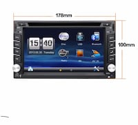 Black 2-din car stereo head unit Gainesville, 20155