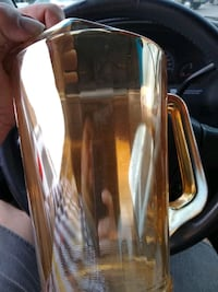 VINTAGE CARNIVAL GLASS PITCHER WITH ICE LIP NICE Cookeville, 38501