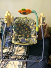 baby's blue and green swing chair Huntsville, 35811