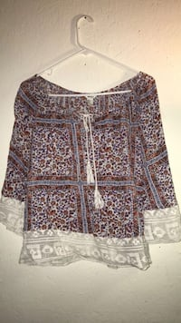 women's black and brown floral blouse Bell Gardens, 90201