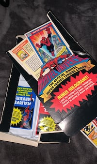 The official marvel super heroes trading cards! +bonus holograms