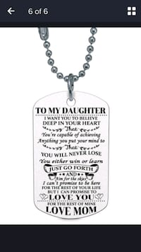 To Daughter Love Mom dog tag Ajax, L1S 5C7
