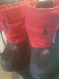 Red polo winter boots Toronto, M1B 3G2