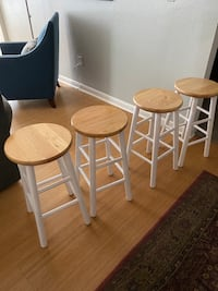 Household items barstools side/coffee table
