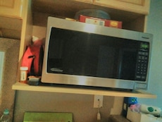 stainless steel Panasonic microwave oven