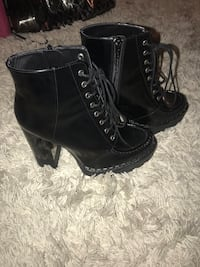Woman Black Heeled boots  Upper Marlboro, 20774