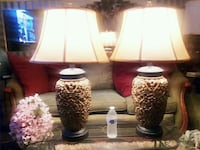 Beautiful Pair Large Flowers Sculpture Lamps  Mount Rainier, 20712