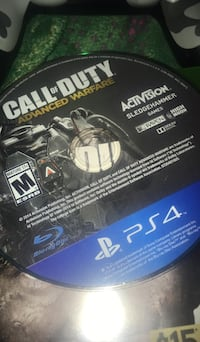 Call of duty advanced warfare ps4 game disc Gahanna, 43230