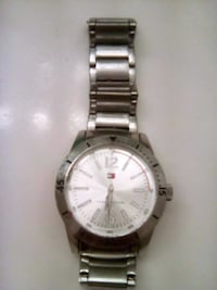 round silver-colored analog watch with link bracel Germantown, 20874
