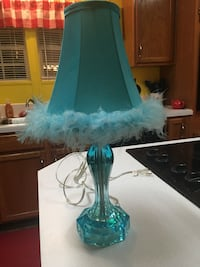 Turquoise lamp. 18 inches tall.  Sumter, 29154