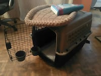 Pet kennel, training pads and petmate