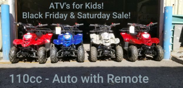 Photo Kids and Adult ATV HQ! ATV SALE on Now! - ATVs for all Ages in Stock!
