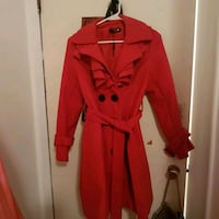 women's red trench coat Vancouver, V6P 4W2