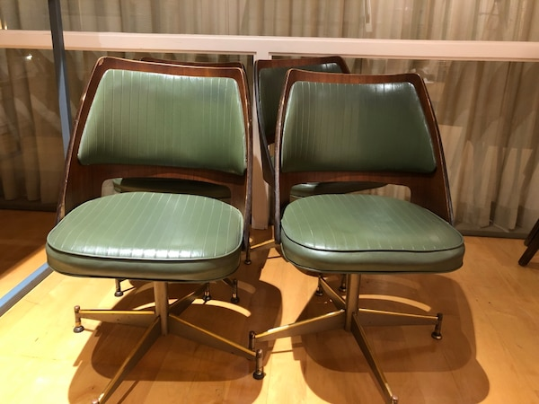 Peachy Mid Century Brody Chair Green Leather Copper Gmtry Best Dining Table And Chair Ideas Images Gmtryco