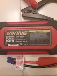 Viking Compact Power Pack/Quick Jump Starter/Charger Battery Pack