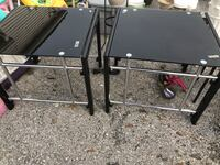 """2 black glass stands 27"""" x 24"""" each one Taneytown, 21787"""