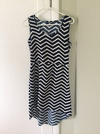 Navy blue & White chevron high-low dress Sacramento, 95816
