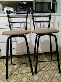 two brown  bar stools Mississauga, L5B 1S2