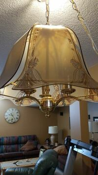 Gold and Rose Chandelier.