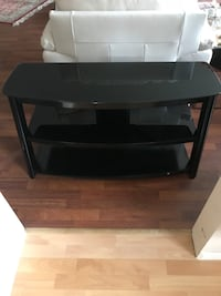 Black glass top TV stand North Vancouver, V7M 2J7