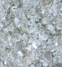 NEW FIRE PIT GLASS ROCKS STONES CLEAR 20 lbs
