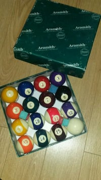 Aramith pool ball set 30$ or make a offer  Brantford