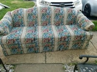 white, blue, and red floral loveseat Clifton, 20124