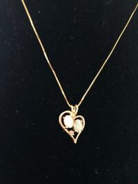 14kt real gold necklace with pendant Toronto, M2R 3N1