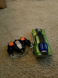 green and black RC toy car