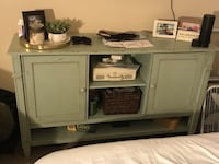 Rustic cabinet. Crap on cabinet not included. Negotiable but must pick it up Emeryville, 94608