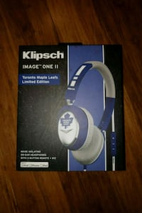 Toronto Maple Leafs Klipsch headphones brand new  Toronto, M9V 4Y8