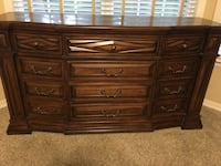 brown wooden 6-drawer lowboy dresser Washington, 20024