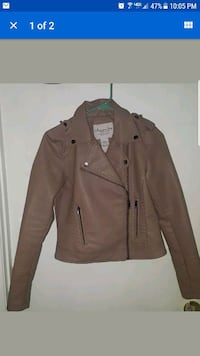 NEW American Rag Faux Leather Jacket Juniors Med