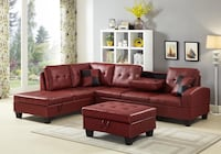 Brand new red leather sectional sofa with ottoman Silver Spring, 20902