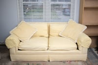 MOVING SALE!! $250 Butter Yellow Settee/Loveseat S Falls Church