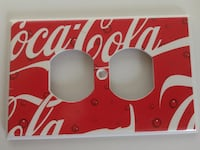 Plastic Coca-Cola Coke Outlet Wall Plate Toms River, 08753